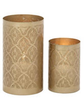 Benzara 2-pc. Artistic Golden Candle Lanterns