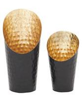 Benzara 2-pc. Striking Metal Candle Holder Set