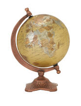 Sturdy & Stylish Metal Tabletop Globe