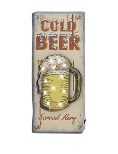 Cold Beer LED Wall Sign