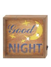 Good Night Wood LED Wall Sign