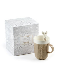 Two's Company Oh Deer Cable Knit Mug