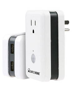 Simple Home White Cables & Outlets Tech Accessories