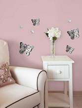 Wall Pops 14-pc. 3D Butterflies Mirror Art Set