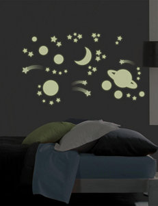 Wall Pops 2-pk. Outer Space Glow In The Dark Wall Art Set