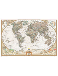 Wall Pops National Geographic World Dry Erase Map Decal