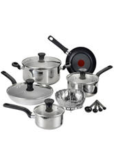 T-fal 14-pc. Excite Stainless Steel Cookware Set