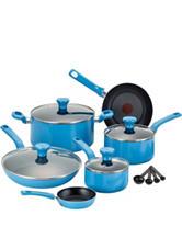 T-fal Excite 14-pc. Nonstick Blue Cookware Set