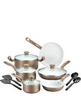 T-fal Initiatives 14-pc. Champagne Ceramic Cookware Set