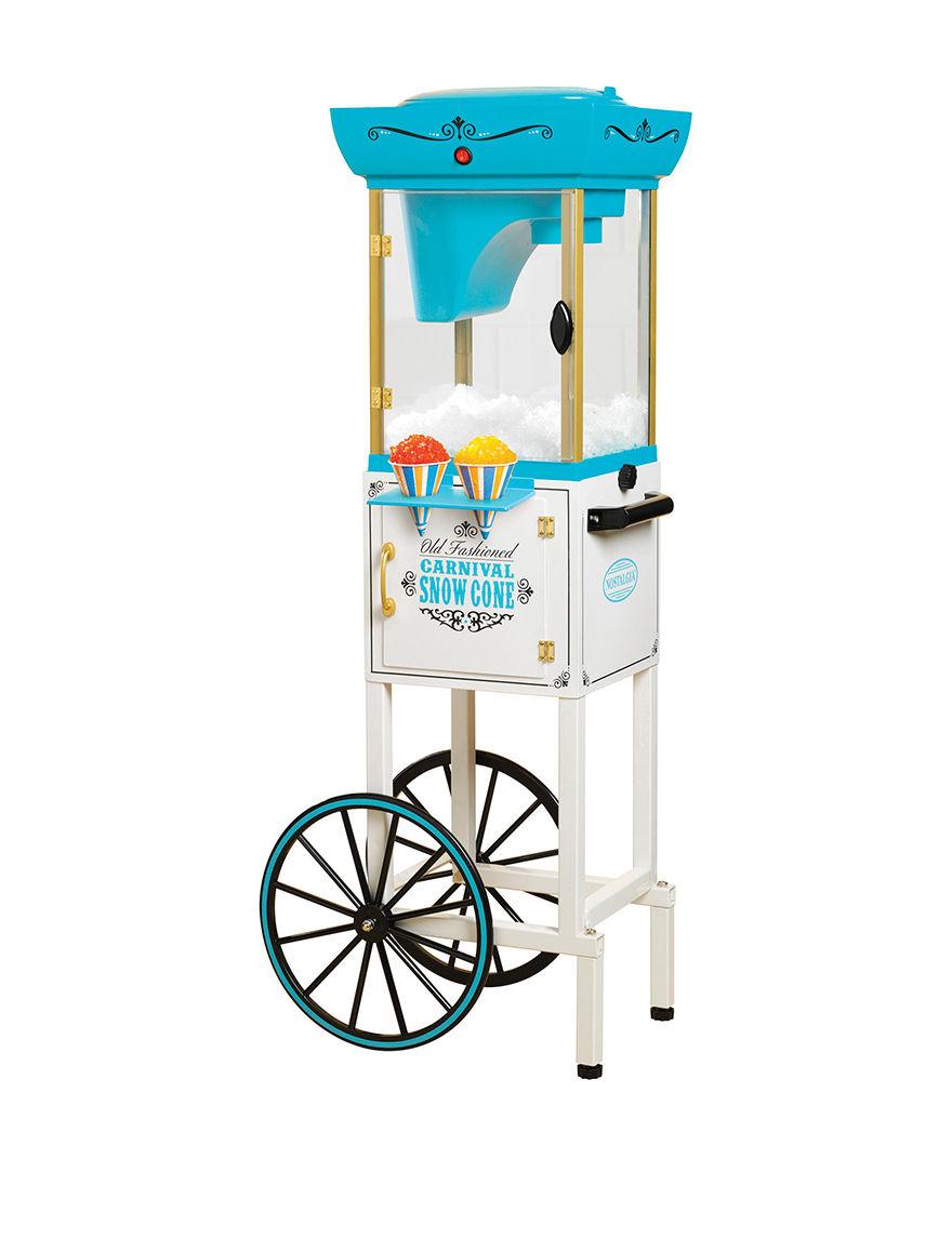 Nostalgia Electrics Blue / White Specialty Food Makers Kitchen Appliances
