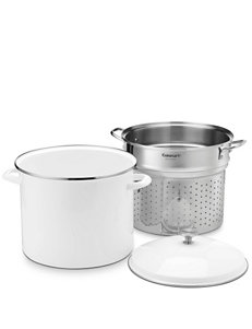 Cuisinart White Double Boilers & Steamers Cookware