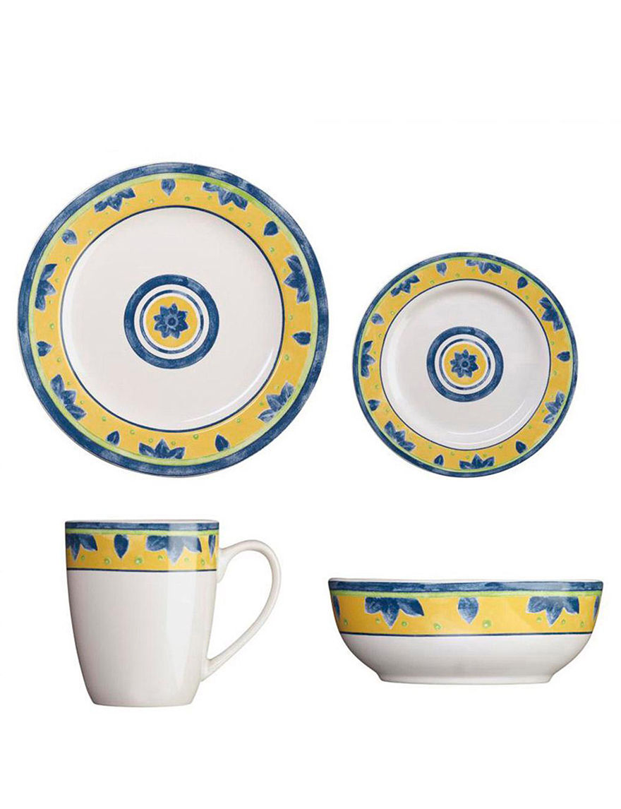 Cuisinart White / Yellow Dinnerware Sets Dinnerware
