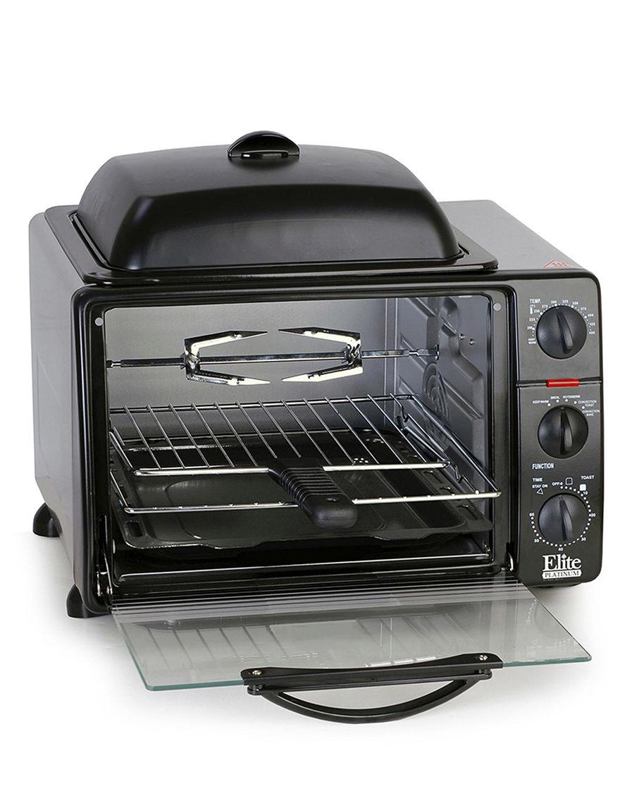 Elite Cuisine Black Toasters & Toaster Ovens Kitchen Appliances