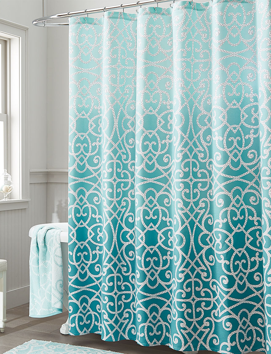 Style Lounge Teal Shower Curtains & Hooks
