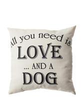 Home Fashions International Love & A Dog Pillow