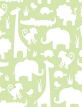 Wall Pops Green Its A Jungle In Here Peel & Stick Wallpaper