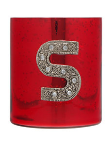 Home Essentials Red / Silver / White Candles & Candle Holders Monogram