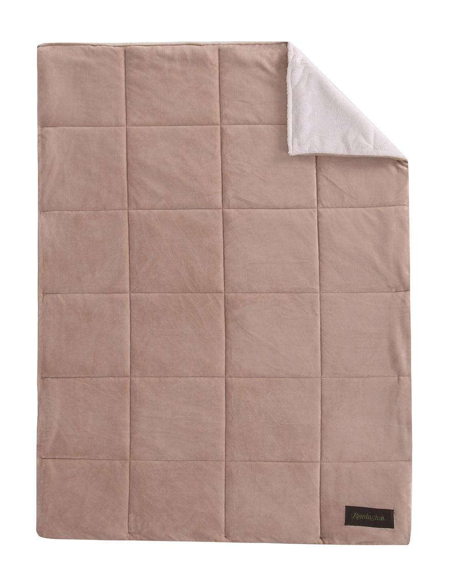 Remington Tan Blankets & Throws