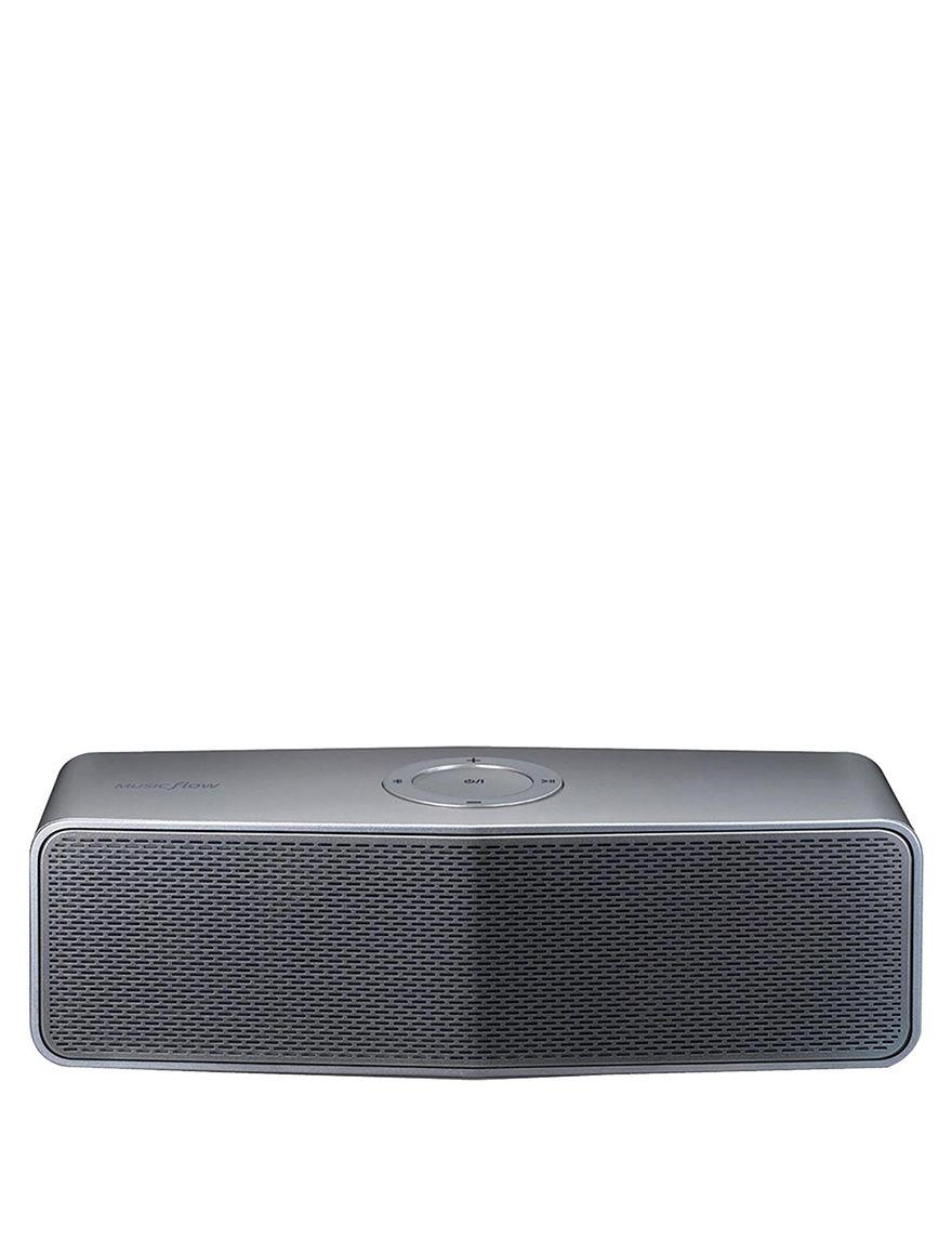 LG Silver Speakers & Docks