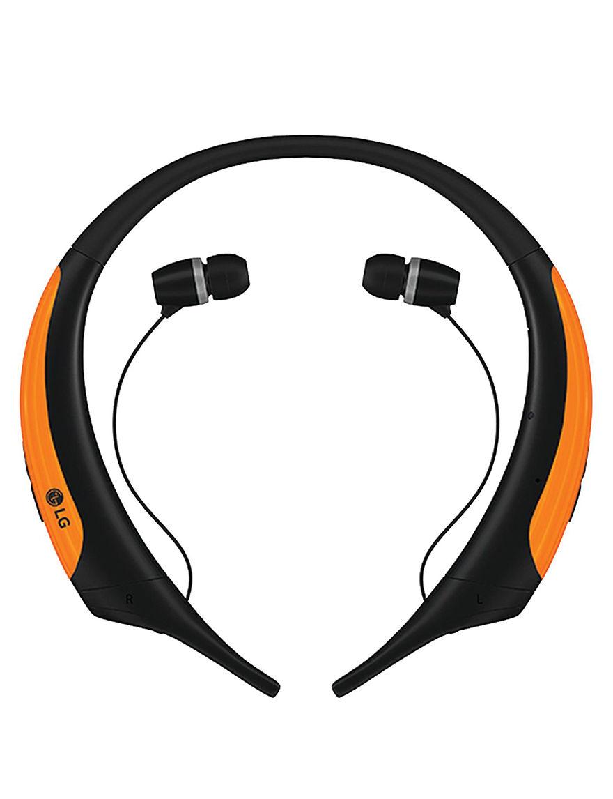 LG Orange Headphones Home & Portable Audio