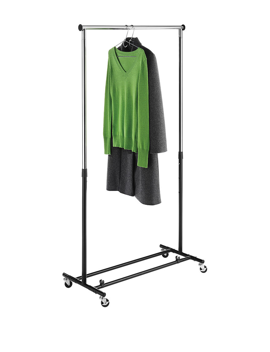 Whitmor Black Garment & Drying Racks Irons & Clothing Care