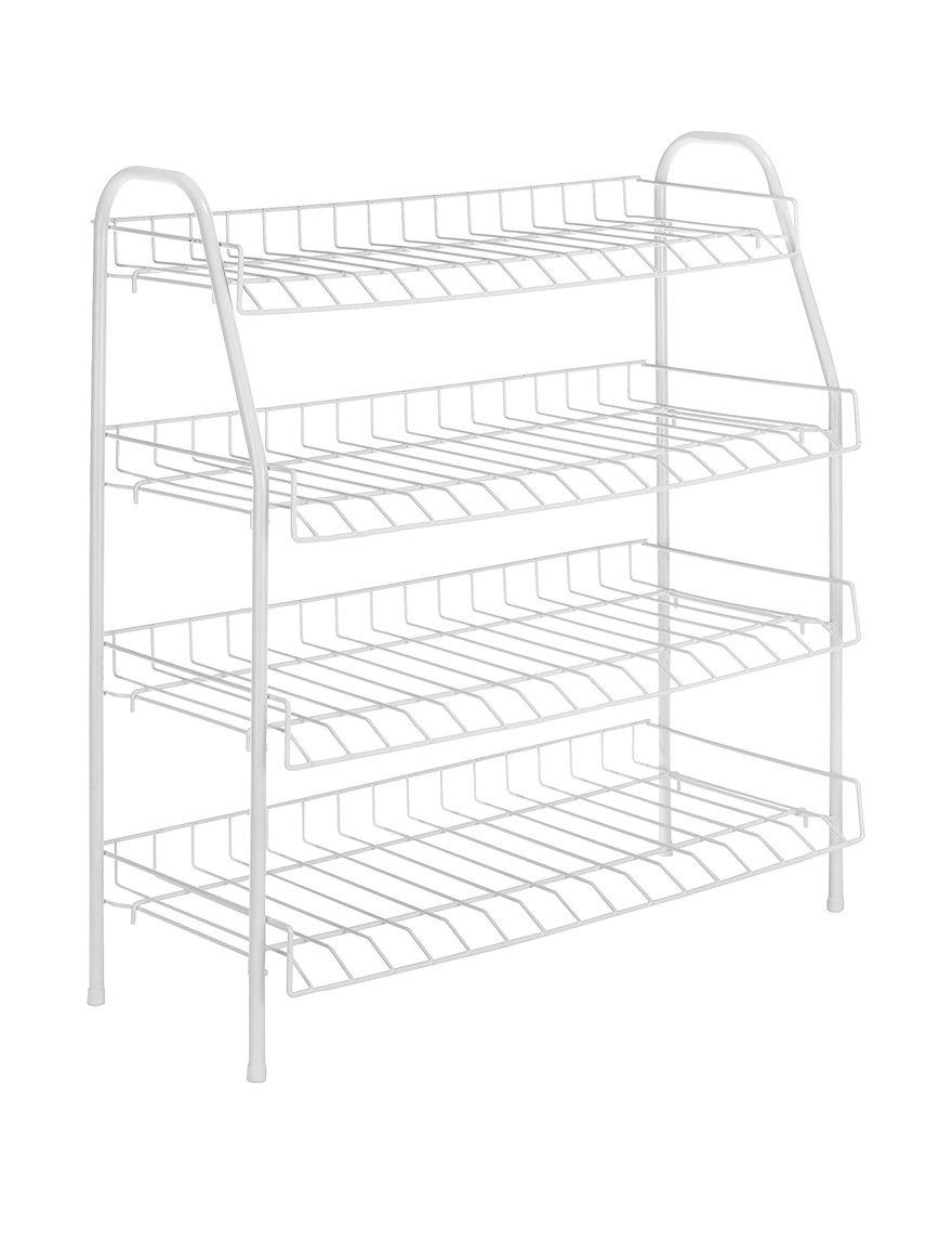 Whitmor White Storage Shelves Storage & Organization