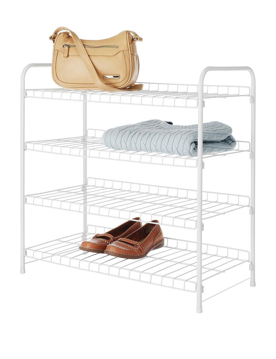 Whitmor White Storage Shelves