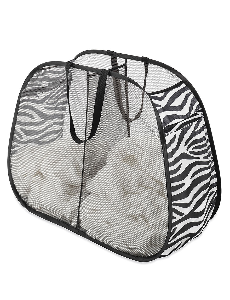Whitmor Black / White Laundry Hampers Irons & Clothing Care