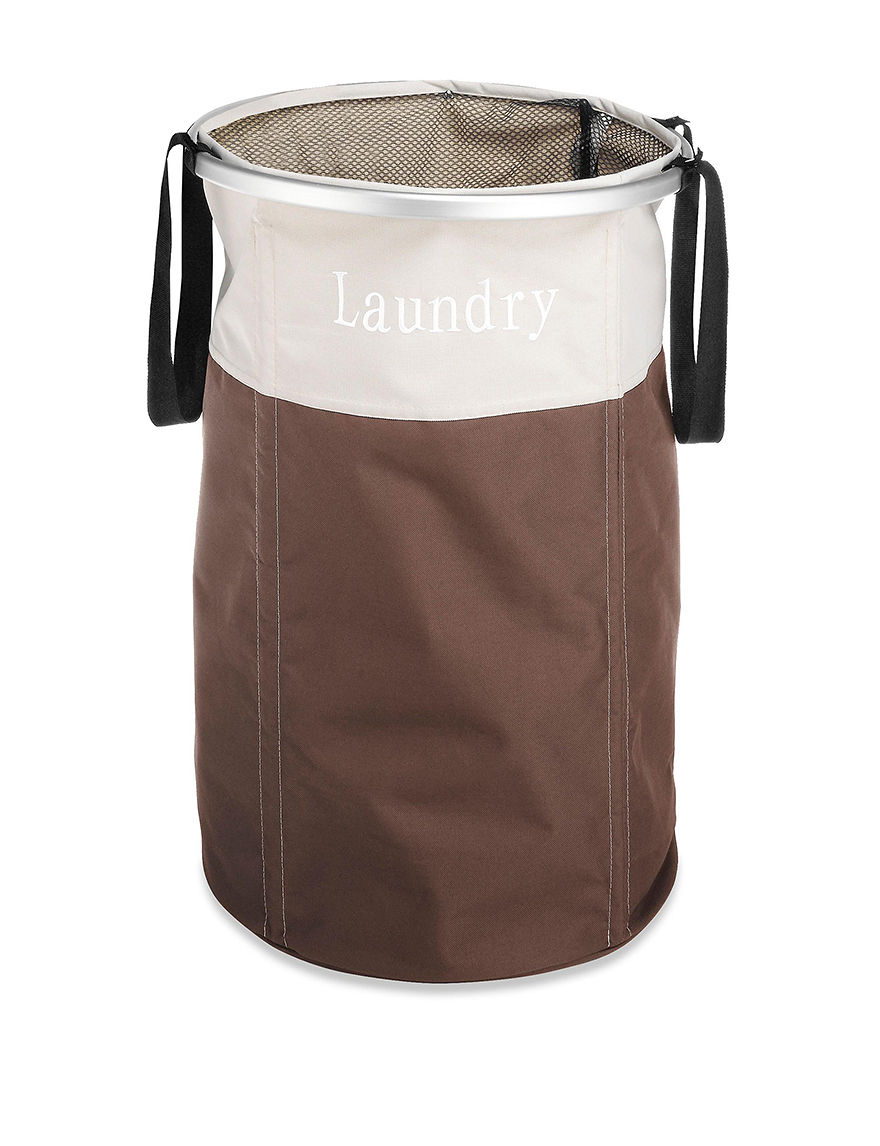Whitmor Brown Laundry Hampers Irons & Clothing Care