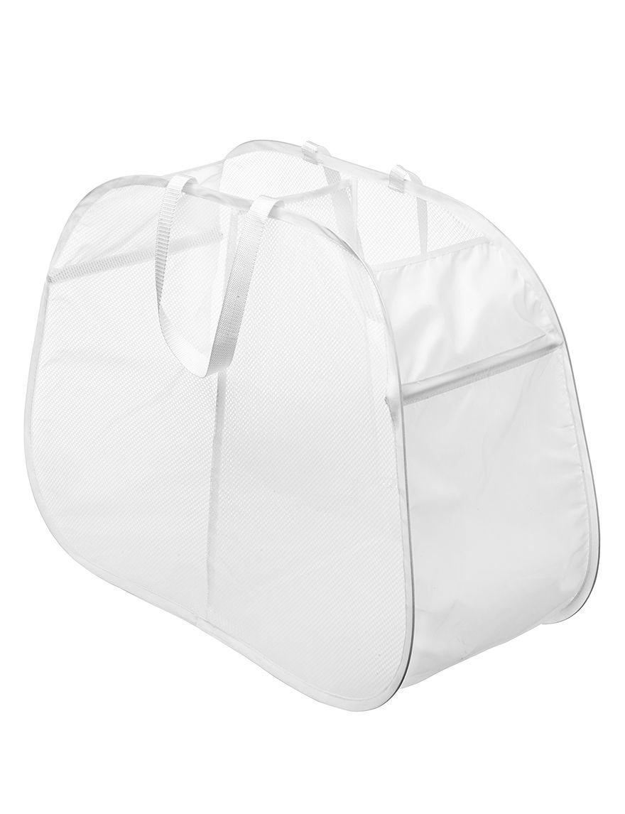 Whitmor White Laundry Hampers Irons & Clothing Care