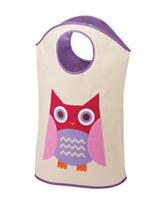 Whitmor Kids Owl Canvas Hamper Tote