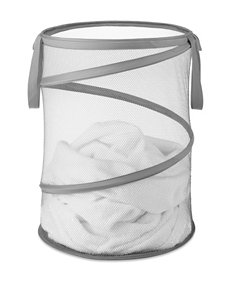 Whitmor Grey Laundry Hampers Irons & Clothing Care