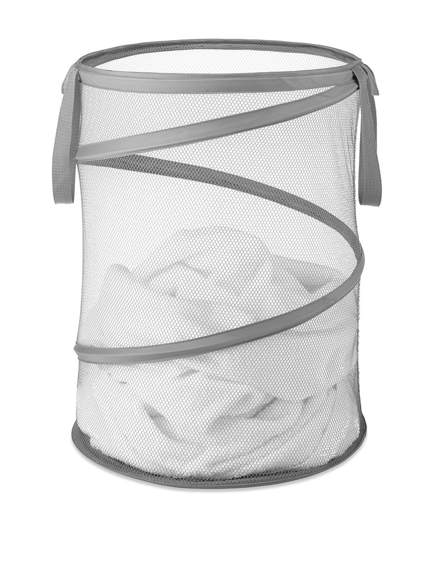 Whitmor Grey Laundry Hampers Irons & Clothing Care