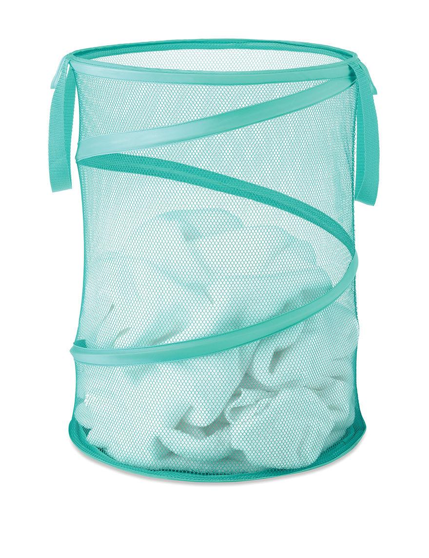 Whitmor Turqouise Laundry Hampers Irons & Clothing Care