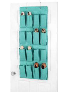 Whitmor Dorm Over-the-Door Turquoise Shoe Organizer