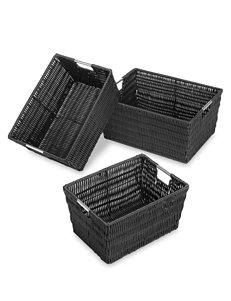 Whitmor Set of 3 Rattique Storage Baskets