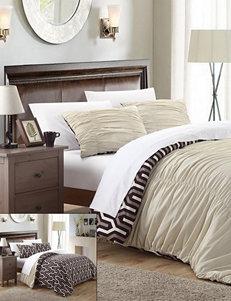Chic Home Design Elisha 3-pc. Reversible Beige Creased Duvet Cover Set