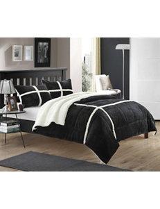 Chic Home Design Chiron Mink 2-pc. Black Comforter Mini Set