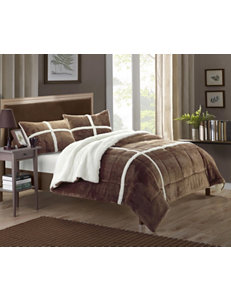 Chic Home Design Chiron Mink 2-pc. Brown Comforter Mini Set
