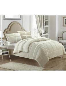 Chic Home Design Chiron Mink 2-pc. Beige Comforter Mini Set