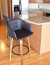 LumiSource Bruno Walnut Barstool