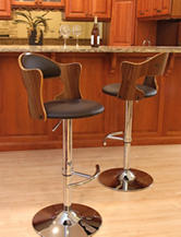 LumiSource Cello Walnut Barstool