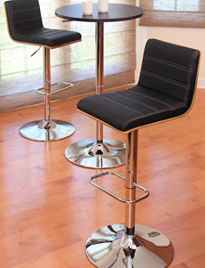 LumiSource Vasari Walnut Barstool