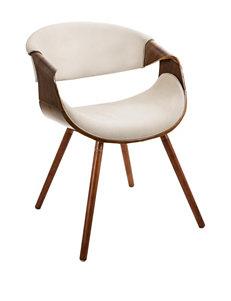 LumiSource Curvo Walnut Chair