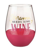 Formation Mama Needs Wine Stemless Wine Glass