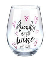 Formation Friends of Life Stemless Wine Glass