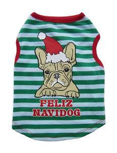Petrageous Designs Feliz Navidog Dog Tee