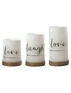 Apothecary White Candles & Candle Holders Home Accents