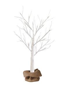 Apothecary White Glitter LED Tree