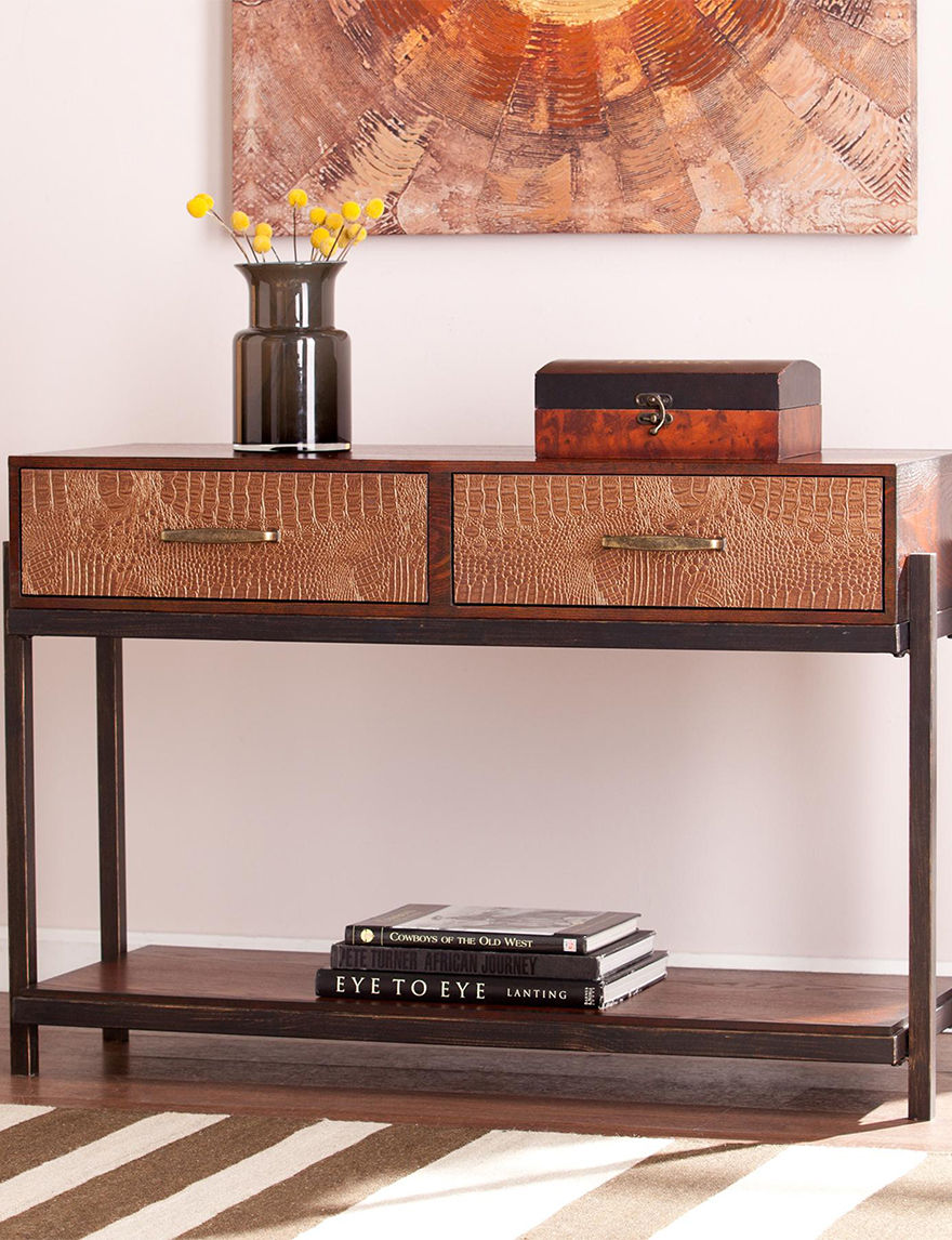 Southern Enterprises Red TV Stands & Entertainment Centers Living Room Furniture